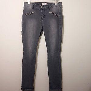 CAbi | #5167 Gray Zip Skinny - 10